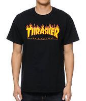 Thrasher Magazine Flame Logo Shirt Black M L XL Skate Skateboard Mag Tee Short