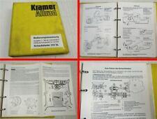 Kramer Allrad 312SL Schaufellader Betriebsanleitung Bedienungsanleitung ca 1991