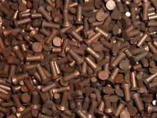 100 Senkkopf Nieten 2x6 mm Vollnieten Kupfer 2 x 6 mm Flachkopfnieten Cu Senk
