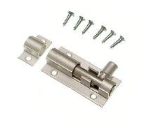 NEW 6 X DOOR BOLT BARREL SLIDE PRIVACY LOCK 38MM 1 1/2 INCH ALUMINIUM + SCREWS
