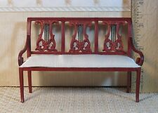 Bespaq Lyre-back Sofa - Dollhouse Miniature (BP-105)