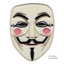 ANONYMOUS HACKER MASK embroidered patch OCCUPY WALL STREET iron-on GUY FAWKES