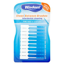 Wisdom Blue Fine Clean Between Brushes Small Rubber 20 Interdental Plaque