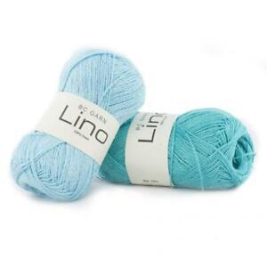BC Garn Lino -  VARIOUS SHADES - 50g balls -  100% Linen Knitting Yarn