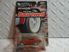 Hot Wheels Whips Team Baurtwell Orange '70 Chevelle w/Real Riders