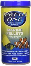 Omega One Garlic Marine Small Sinking Pellets 8.25 oz