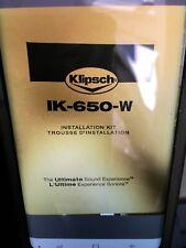 Klipsch IK-650-W In-Wall Speaker Installation Kit