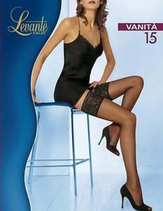 Levante Tights Woman Vanità Pantyhose 15 DEN Stockings Lace top