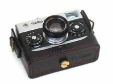 Leather Rollei 35 Black with Red Stitching Half Case - BRAND NEW