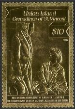 Union Island 1988 GOLD/Queen Elizabeth II/Royalty/QE II/Wedding 1v (n42919)
