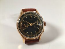 Original Chronographe Suisse Herren Chronograph in 750 Gold Watch