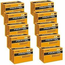 100 x AA Duracell Industrial MN1500 Alkaline 1.5v Batteries for Electronics