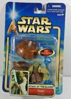 Star Wars - Attack of the Clones: Yoda (Jedi Master) Action Figure - Hasbro 2002