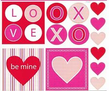 Love Heart XO Valentine Cardstock Scrapbook Stickers