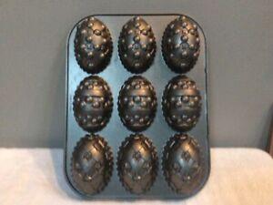 Nordic Ware Easter Egg Baking Mold Muffin Mini Cake Cast Aluminum Pan ~ USA