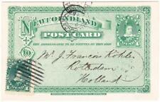Newfoundland POSTAL CARD-HG:3-MIRROR IMAGE-uprated SG#50-ST.JOHN