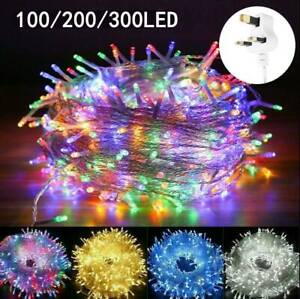 100-300 LED Fairy String Lights Christmas Party Tree Outdoor Indoor Warm White