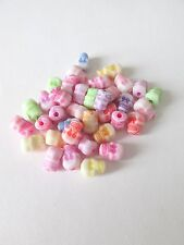100pcs 9x5mm Acrilico Teschio Perline Mix Colori Gioielli Craft UK.