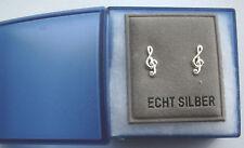 Ohrstecker Violinschlüssel echt silber inkl. Schmuckbox