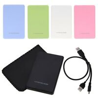 AM_ KM_ 2.5 inch Hard Disk Case 2TB SATA HDD SSD Box External Enclosure for PC L