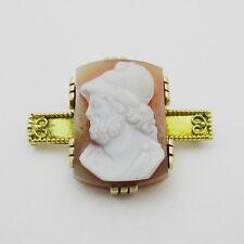 Splendido Vittoriano Oro & HARDSTONE cameo spilla.