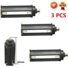3pcs AAA Battery Plastic Holder Box Case Cylindrical Type For 18650 Flashlight