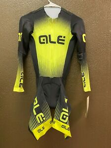 Alé Cycling PRR Long Sleeve Skinsuit - Fluo Yellow - Men's XS