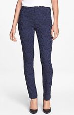 NWT Not Your Daughter's Jeans NYDJ Jade Legging in Navy Floral Jacquard 4P