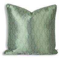 Zoffany Juno Luxury Designer Geometric Grey Fabric Cushion Pillow Throw Cover