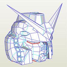 Gundam RX 78 helmet pepakura templates