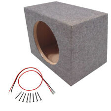 Car Audio Single 10 Inch Sub Box Rear Firing Subwoofer Sealed Enclosure Carpeted