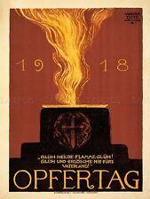 Propaganda De Guerra Primera Guerra Mundial sagrada llama Patria Alemania Glow arte cartel impresión lv7249