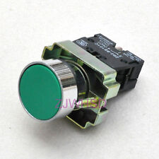 Green sign Momentary Push Button Switch Normally Open Contact Block
