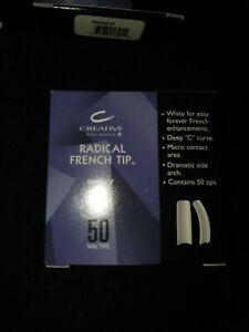 size 1/ 50 refill CND CREATIVE RADICAL French White NAIL TIPS / Acrylic UV Gel
