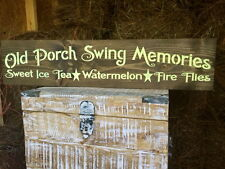"Large Rustic Wood Sign - ""Old Porch Swing Memories. ."" Fixer Upper,Primitive,"