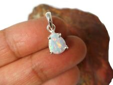 Pear shaped  White Opal  Sterling  Silver  925 Gemstone  Pendant