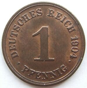 Top! 1 Pfennig 1904 G IN Uncirculated