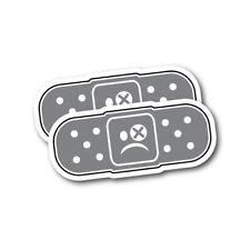 2x Bandaid Sad Face JDM Sticker Decal Car Drift Japan #0904