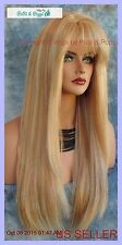 PREMIUM HUMAN HAIR WIG SKIN TOP WIG BEWITCHING FOXY SEXY STYLE CLR F27.613  *236