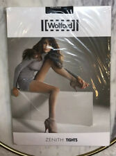 Wolford Zenith Tights Size M Smoke Blue 18528 5580