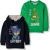 PJ Masks Boys Cotton Sweatshirt Hoodie Costume Gekko Catboy Characters 2-8 years