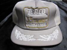 Vtg Zebco 33 Classic Reels Trucker Hat Cap Snap Back Fishing Angler 80's ~4339
