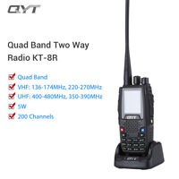 QYT KT-8R Portable 200CH Quad-Band VHF/UHF Two Way Radio Ham Transceiver 2000mAh