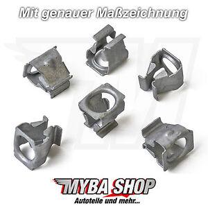 10x Metal los Bajos Protección Pinza Clips Para VW Skoda Seat Audi N90847501