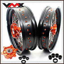 "VMX 17"" Supermoto Wheels Rims Set Fit K*M690 SMC 2008-2011 ENDURO R 2008-2018"