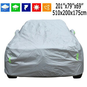 17Ft Universal Car Cover Waterproof All Weather Protection Snow Ice UV Resistant