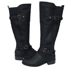 New Women's Winter Knee High Riding Boots Black Snow Ladies Shoes size 6