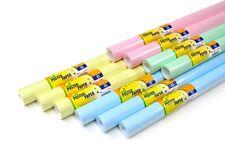 POSTER PAPER DISPLAY ROLLS: PASTEL COLOURS ASSORTMENT - 10 ROLLS (760mm x 10m)