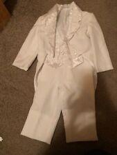 Little Baron Boys 3-piece white tuxedo size 5