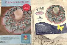 PATTERN - Fold N Stitch Blooms Kit - 3D candle mat PATTERN - Poorhouse Designs